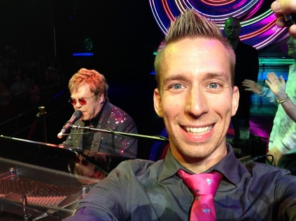 On stage with Elton