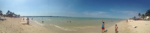 Panoramic view of Playa Progreso.