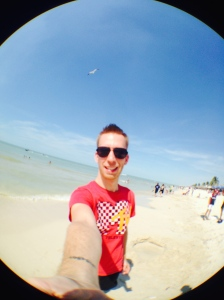 Selfie time at Playa Progreso.