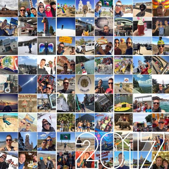 best of 2017 travel collage